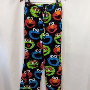Sesame Street fleece pants Elmo Cookie monster